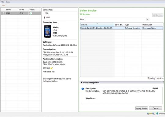 索尼发布Xperia系列手机官方刷机软件