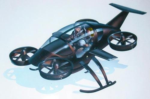 这种飞行汽车能够像直升机那样进行垂直升降,并且能够自动驾驶。