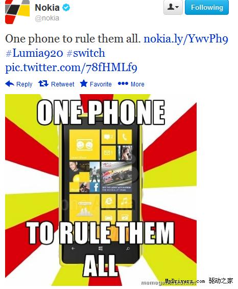 诺基亚霸气回应HTC One发布