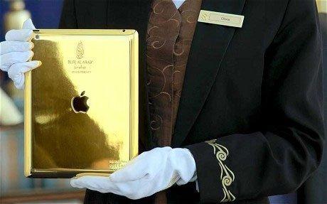 迪拜奢华酒店为客人配黄金iPad